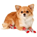 Karlie Doggy Socks Hundesocken 4er Set - Rot/Grau