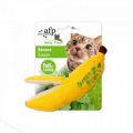 All for Paws Green Rush Banana Katzenspielzeug mit Catnip